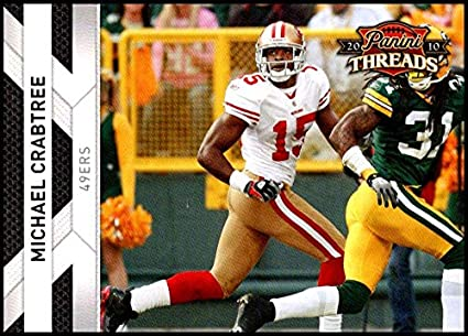 2010 Panini Threads  127 Michael Crabtree NM-MT San Francisco 49ers  Official NFL Football 307a4c3ca