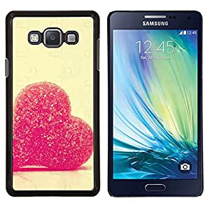 LECELL--Funda protectora / Cubierta / Piel For Samsung Galaxy A7 A7000 -- Amor del corazón del caramelo --