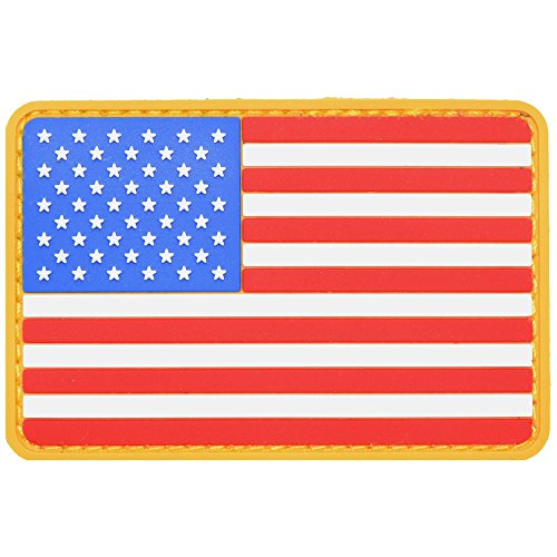 USA American Flag 2x3 inch PVC Patch - Full Color