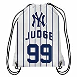 American Aaron Judge Pinstripe Drawstring Backpack