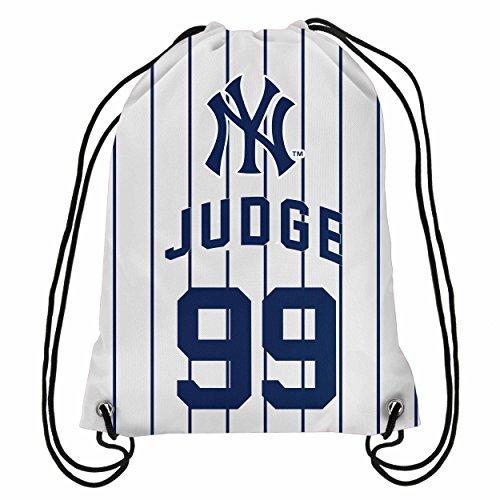 American Aaron Judge Pinstripe Drawstring Backpack
