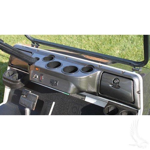Club Car DS Custom Dash - Carbon Fiber