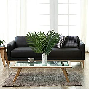 6pcs Artificial Palm Plants Leaves Imitation Leaf Artificial Plants Green Greenery Plants Faux Fake Tropical Large Palm Tree Leaves for Home Kitchen Party Flowers Arrangement 4
