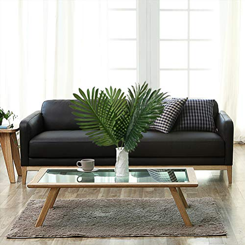 6pcs Artificial Palm Plants Leaves Imitation Leaf Artificial Plants Green Greenery Plants Faux Fake Tropical Large Palm Tree Leaves for Home Kitchen Party Flowers Arrangement Wedding Decorations