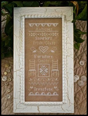 Simply Vintage Cross Stitch Chart and Free Embellishment