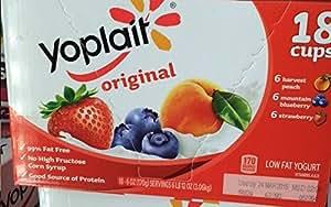 Yoplait Original 18 Cups Low Fat Yogurt 170 calories per Serving