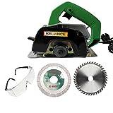 Eshopher EC4 Powerful Cutting Machine For Wood/Marble/Tile/Granite/metal Cutting Free 3 wheels Handheld Tile Cutter 1050 Watt 11000 RPM 110mm