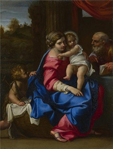 80's Workout Barbie Costume (The High Quality Polyster Canvas Of Oil Painting 'Annibale Carracci - The Holy Family With The Infant Saint John The Baptist,about 1600' ,size: 24x32 Inch / 61x80 Cm ,this High Quality Art Decorative Canvas Prints Is Fit For Kitchen Decoration And Home Decor And Gifts)