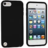 Black Silicone Rubber Gel Soft Skin Case Cover for Apple iPod Touch 5th Generation 5G 5
