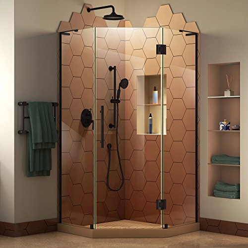 Neo Shower Doors (DreamLine SHEN-2636360-09 Prism Plus W x D Frameless Shower Enclosure Hardware Finish, 36