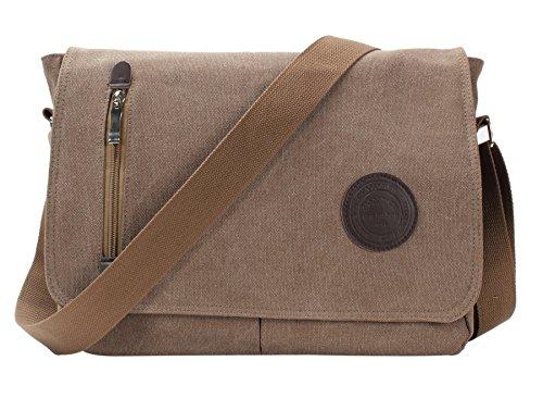 Camel Skin Messenger Bag - 7