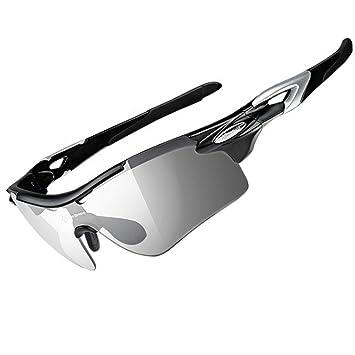 Gafas de sol RockBros para ciclistas polarizadas y fotocromáticas, ligeras, negro: Amazon.es: Deportes y aire libre