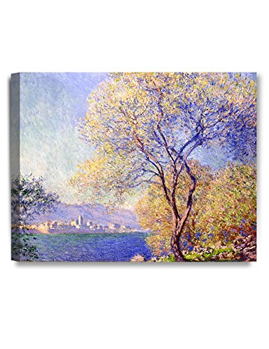 """DecorArts - Antibes Seen From the Salis Gardens, Claude Monet Art Reproduction. Giclee Canvas Prints Wall Art for Home Decor 20x16"""" from DECORARTS"""