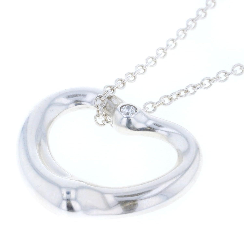 (ティファニー) TIFFANY&Co. ダイヤ 1P MM オープンハート ネックレス シルバー925/ダイヤモンド ダイヤモンド レディース 中古 [PD3] B0789J6PWF