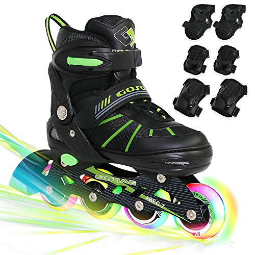 PETUOL Kids Inline Skates, Adjustable and Safe Durable...