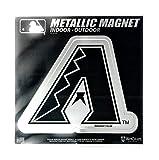 "Stockdale Arizona Diamondbacks 6"" Metallic MAGNET Silver Style Vinyl Die Cut Auto Home Baseball"