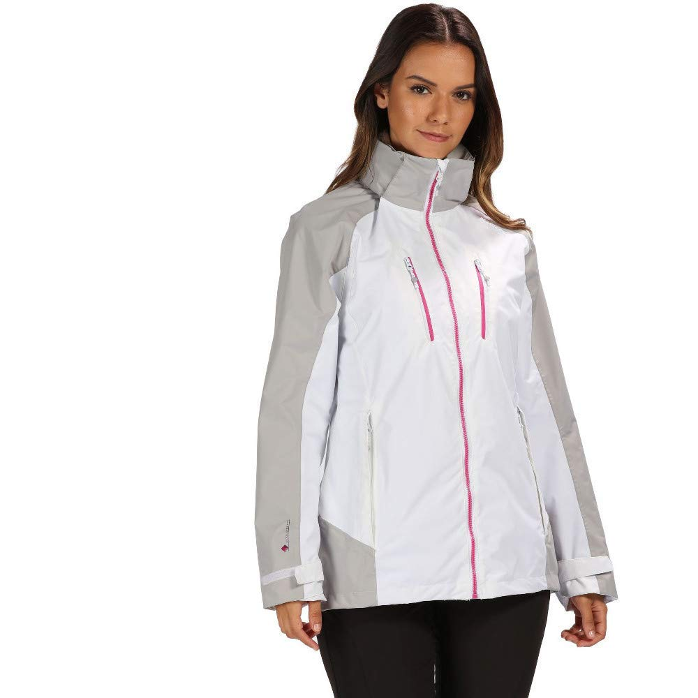 Mujer Regatta Calderdale III Waterproof and Breathable Hooded Outdoor Active Hiking Jacket Chaqueta