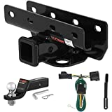 CURT Class 3 Trailer Hitch Tow Package with 2'' Ball for 2007-2016 Jeep Wrangler
