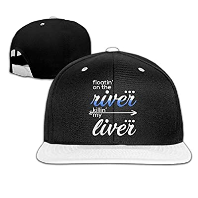 Floating On The River Unisex Hip Hop Flatbrim Snapback Caps Plain Cotton Baseball Cap for Boys