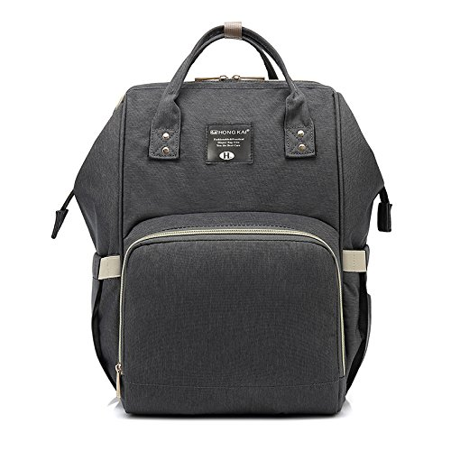 - Diaper Bag - Multi-Function Thick Waterproof Oxford Fabric Backpack, Large Capacity Nappy Bag (Grey)