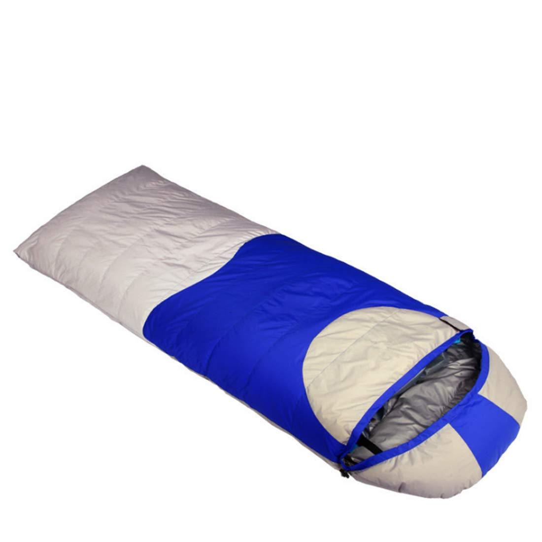 CUBCBIIS エンベロープ大人用寝袋キャンプ、旅行、ハイキングに最適 (Color : レッド) B07N794NFB ブルー  ブルー