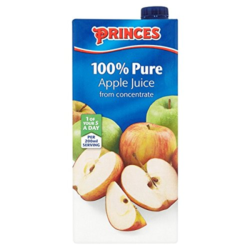 Princes 100% Pure Apple Juice from Concentrate 1 Litre (Pack of 12 x 1ltr)