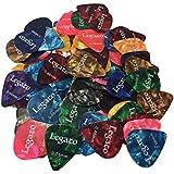 Guitar Picks by Legato Premium Sampler 100 Count Variety Pack Assorted Colors 3 Gauges Light 0.46mm, Medium 0.71mm, Heavy 0.96mm for Acoustic Electric Bass Guitars Mandolin Ukulele