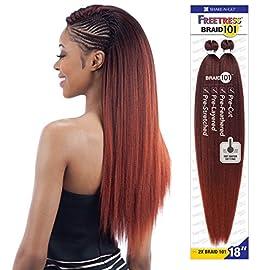 2X BRAID 101 18″ (2 Dark Brown) – FreeTress Synthetic Hair Jumbo Braiding