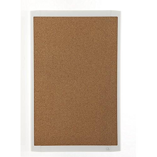 Quartet Magnetic Cork Bulletin Board, White Plastic Frame, 11 x 17 Inches, Natural Cork (Plastic Frame Natural)