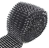 AEAOA 1 Yard Sew Stitch On Spike Stud Cone Flatback Punk Rock Trim mesh Bead Craft