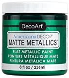 Deco Art Admmt-10 Americana Decor Matte Metallics 8oz-Emerald Green