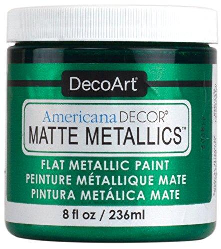 Deco Art Admmt-10 Americana Decor Matte Metallics 8oz-Emerald Green by DecoArt