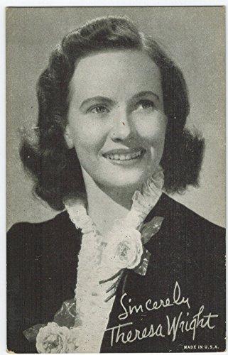 Exhibit Teresa Wright Arcade Card: BW 1940s (13mm MADE IN U.S.A.) (Exhibit Arcade)