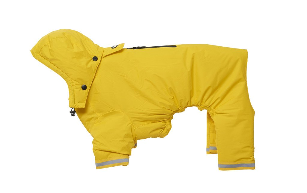 Kruuse Buster Aqua Dog Raincoat, Yellow, Large by Kruuse (Image #1)