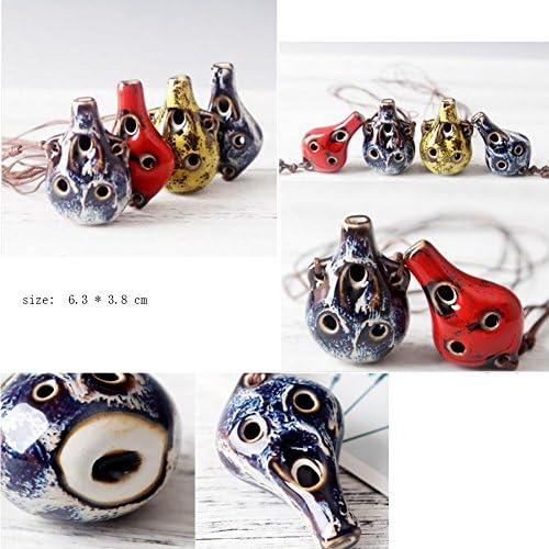 中国の手作りの特別なオカリナ6穴、子供のための教育おもちゃ
