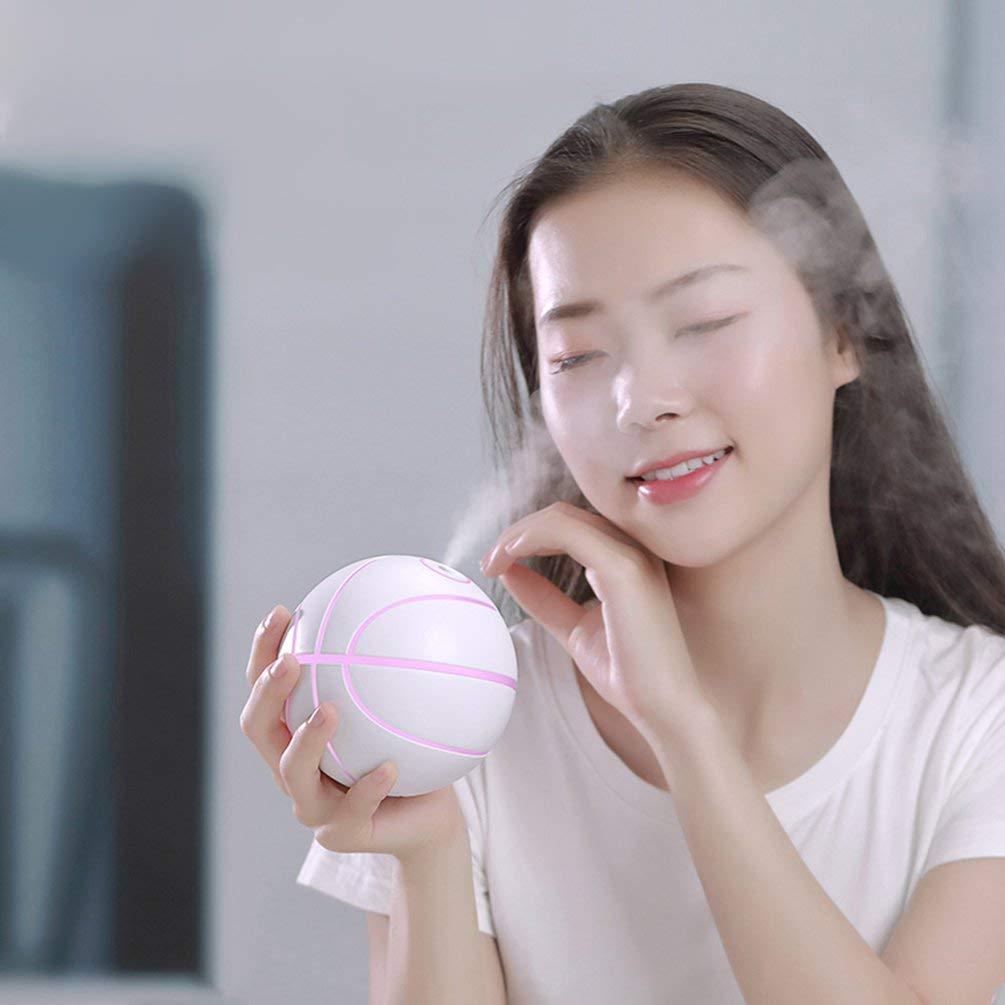 BFHCVDF Mini 460ML Ultrasonic Basketball Air Humidifier Aroma Essential Oil Diffuser White
