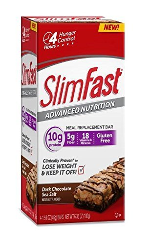 slim-fast-advanced-nutrition-meal-replacement-bar-dark-chocolate-sea-salt-nut-4-count-by-slimfast