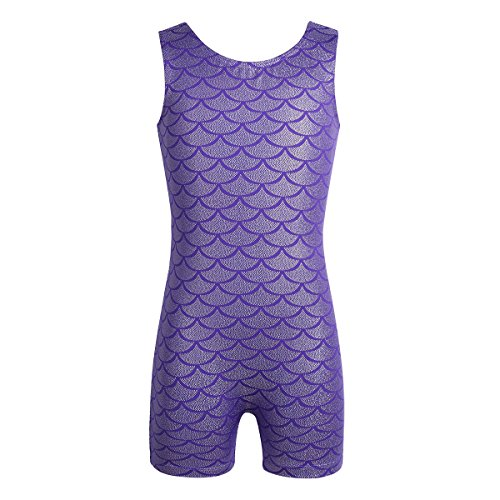 Dance Biketard Costumes - MSemis Girls' Glitter Mermaid Fish Scales