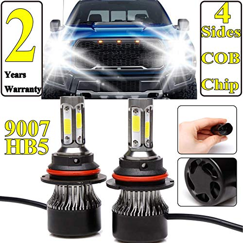 Ultra 9007 LED Headlight Bulbs HB5 COB LED Headlight Conversion Kit 240W 24000lm Hi-Lo Dual Beam Headlamp Halogen Headlight Replacement for 1999-2003 Ford F-1500,2 Years Warranty