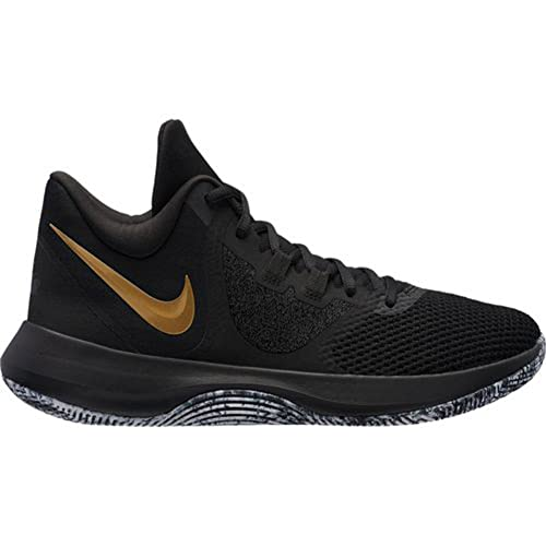 9ea533d3cfa4 Nike Men s Air Precision II Black Metallic Gold-White Basketball Shoes  (AA7069-090)  Buy Online at Low Prices in India - Amazon.in