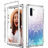 CASY MALL Case for Galaxy Note 10, Slim Shockproof Series Hard PC+TPU Bumper with Front PC Cover(Without Built-in Screen Protector) for Samsung Galaxy Note 10 2019 Release Crystal