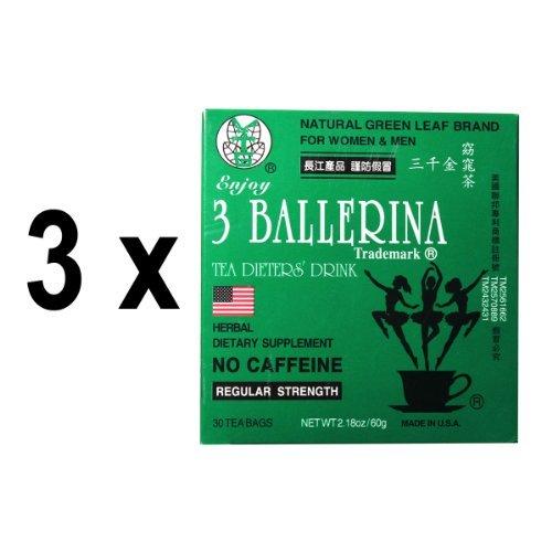3 Pack de 3 Ballerina diète de