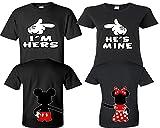 I'm Hers He's Mine Couple Shirts, Matching Couple Shirts, Disney His and Her Shirts Black - Black Man XL - Woman Medium
