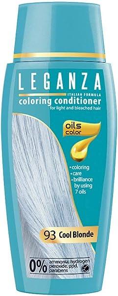Leganza, 7 aceites naturales, bálsamo para el pelo de color rubio frio 93