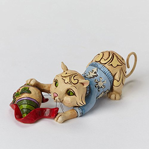 Ornament Mini Cat Christmas (Jim Shore for Enesco Heartwood Creek Mini Christmas Cat with Ornament Figurine, 1.25