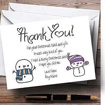 Doodle bonhomme de neige personnalis de nol cartes de remerciement doodle bonhomme de neige personnalis de nol cartes de remerciement 150 invitations stopboris Image collections