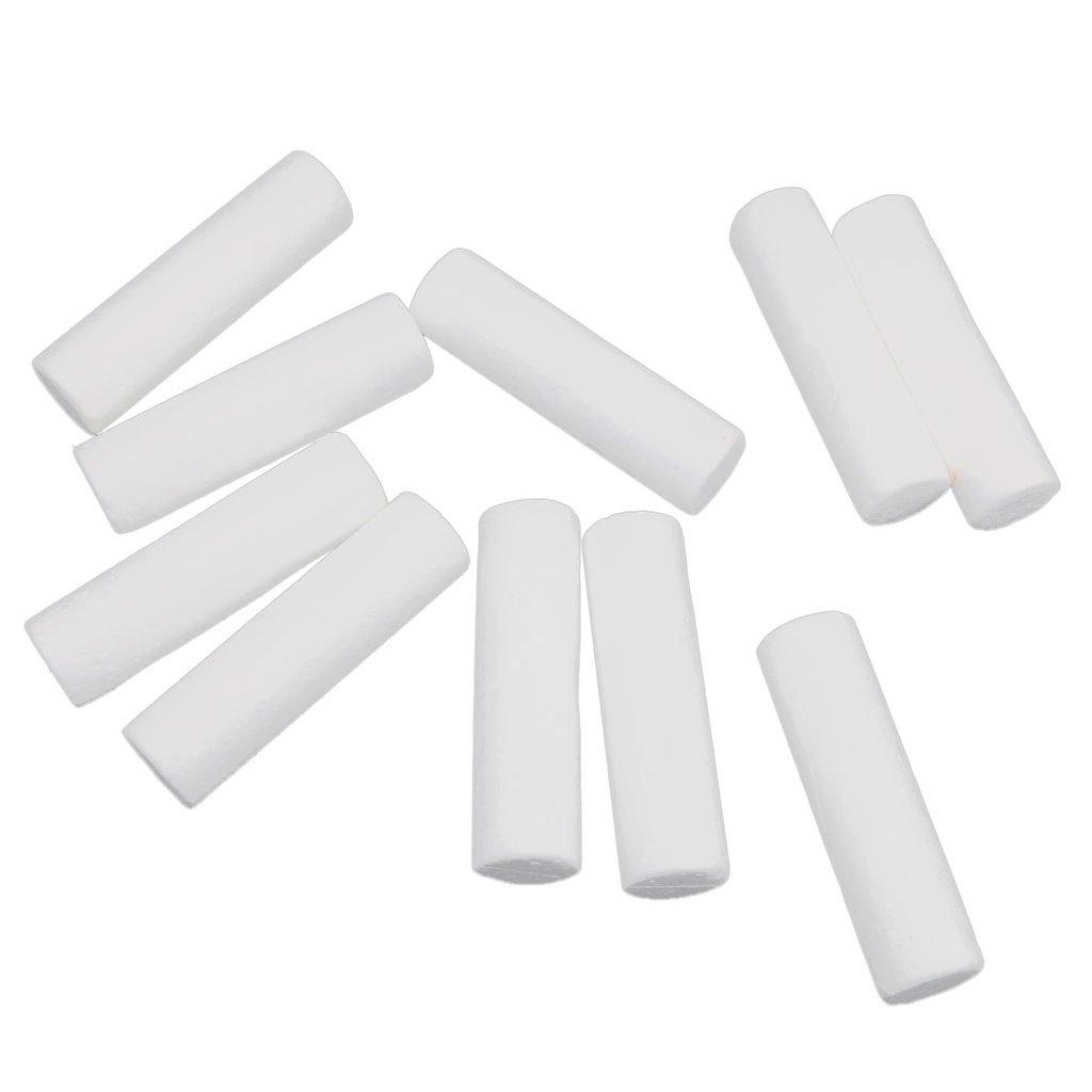 10pcs 120x32mm Cylindre/Colonne en Mousse de Polystyrène Jouet Educatif DIY Artisanal De Modélisation et Décoration - Blanc Generic STK0155003610