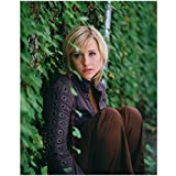 Allison Mack Sitting Against Ivy Covered Wall 8 x 10 Photo