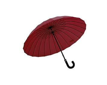 ZHDC® Blossom Umbrella, paraguas doble recto para mujer Refuerzo a prueba de viento Sombrilla