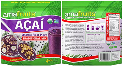 Amafruits Acai Traditional Mix with Guarana - 144 Smoothie Packs by Amafruits (Image #2)